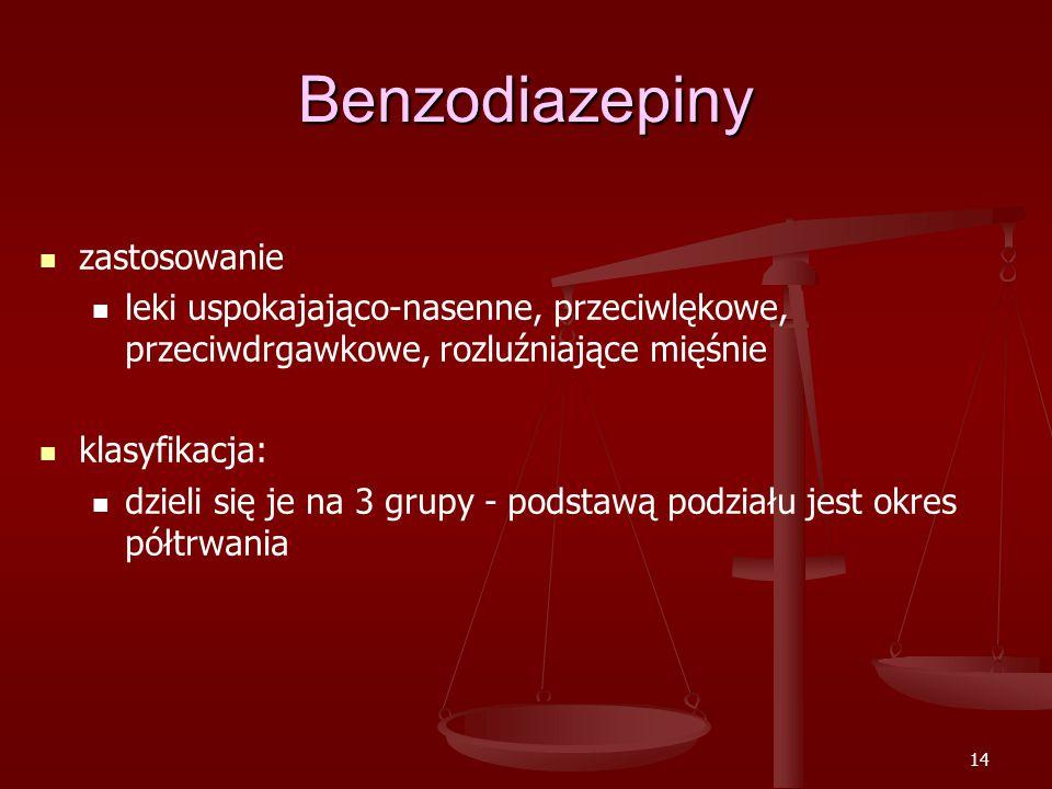 Benzodiazepiny zastosowanie