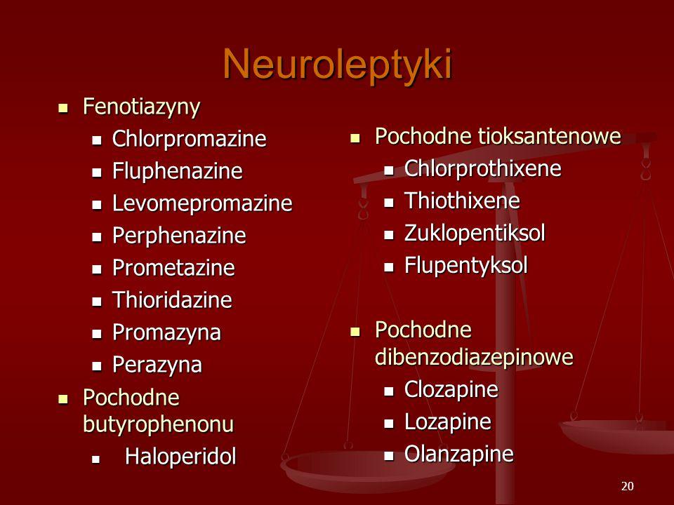 Neuroleptyki Fenotiazyny Chlorpromazine Fluphenazine