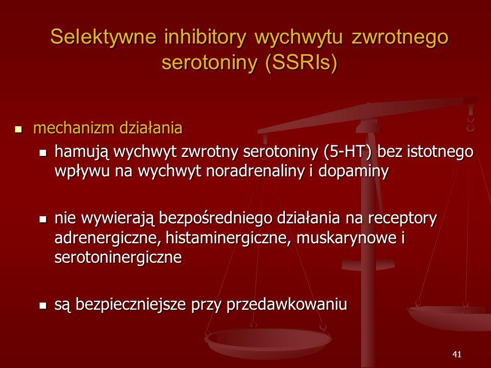 Selektywne inhibitory wychwytu zwrotnego serotoniny (SSRIs)