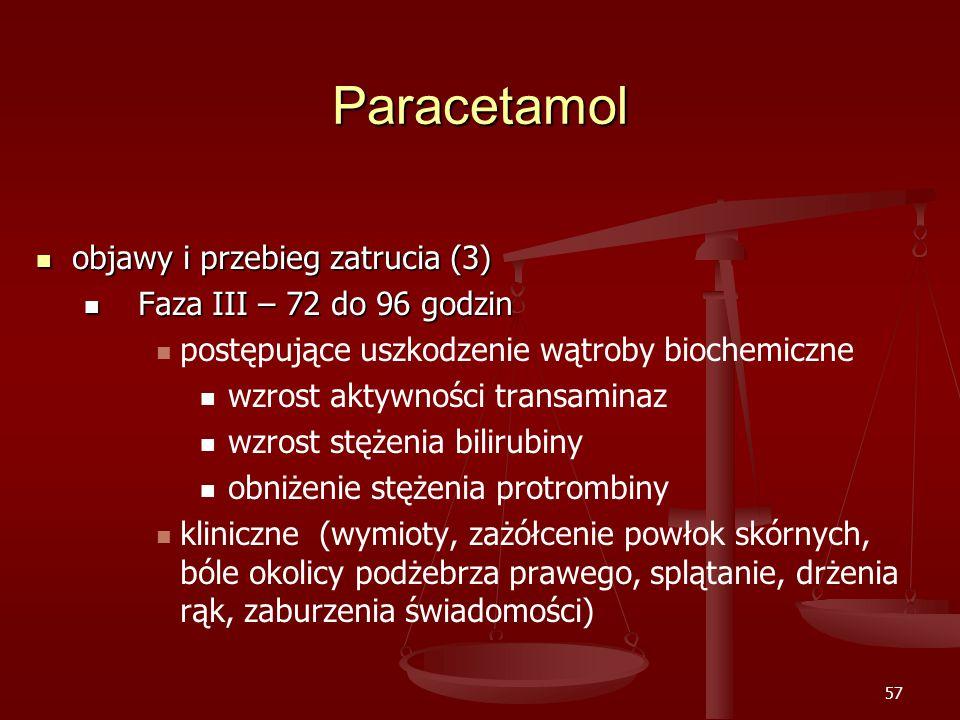 Paracetamol objawy i przebieg zatrucia (3) Faza III – 72 do 96 godzin