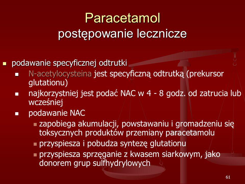 Paracetamol postępowanie lecznicze