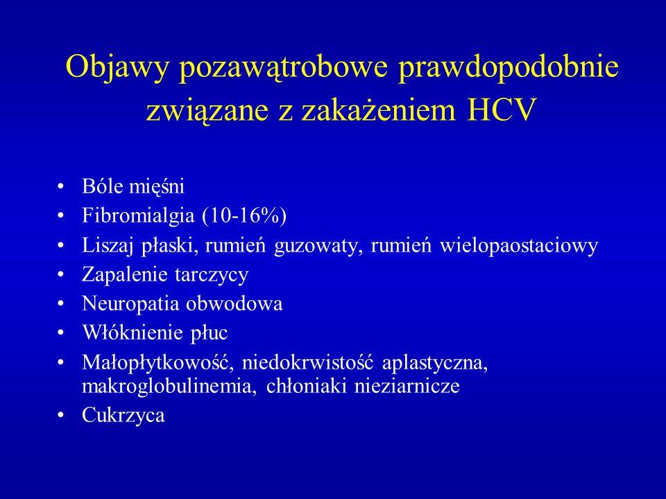 Objawy pozawątrobowe prawdopodobnie związane z zakażeniem HCV