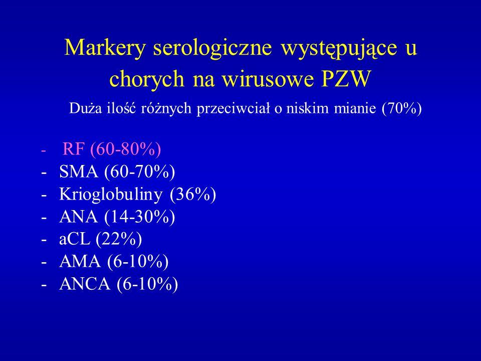 Markery serologiczne występujące u chorych na wirusowe PZW
