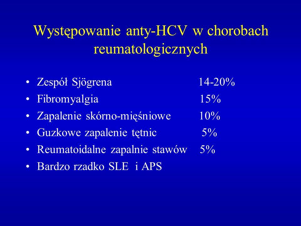 Występowanie anty-HCV w chorobach reumatologicznych