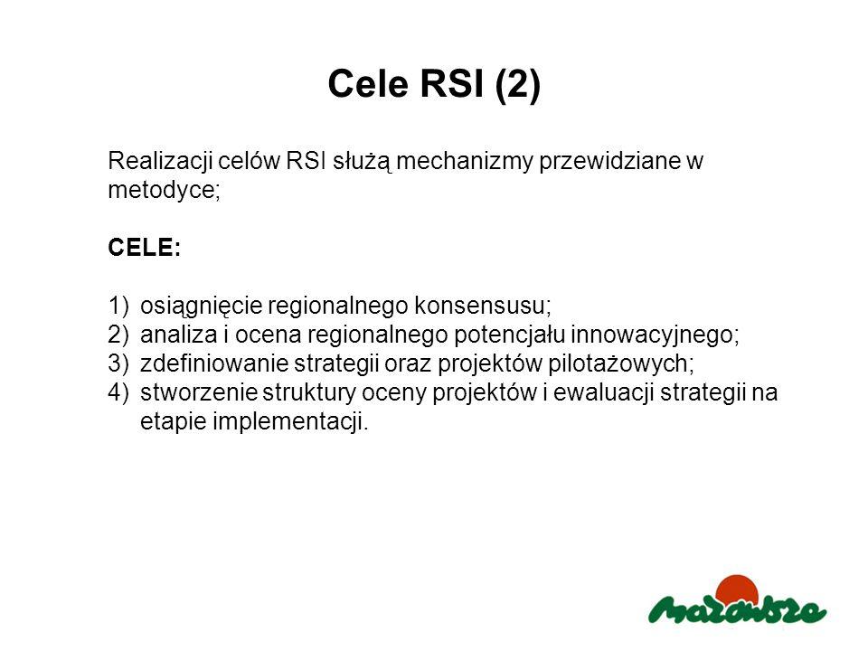 Cele RSI (2) Realizacji celów RSI służą mechanizmy przewidziane w