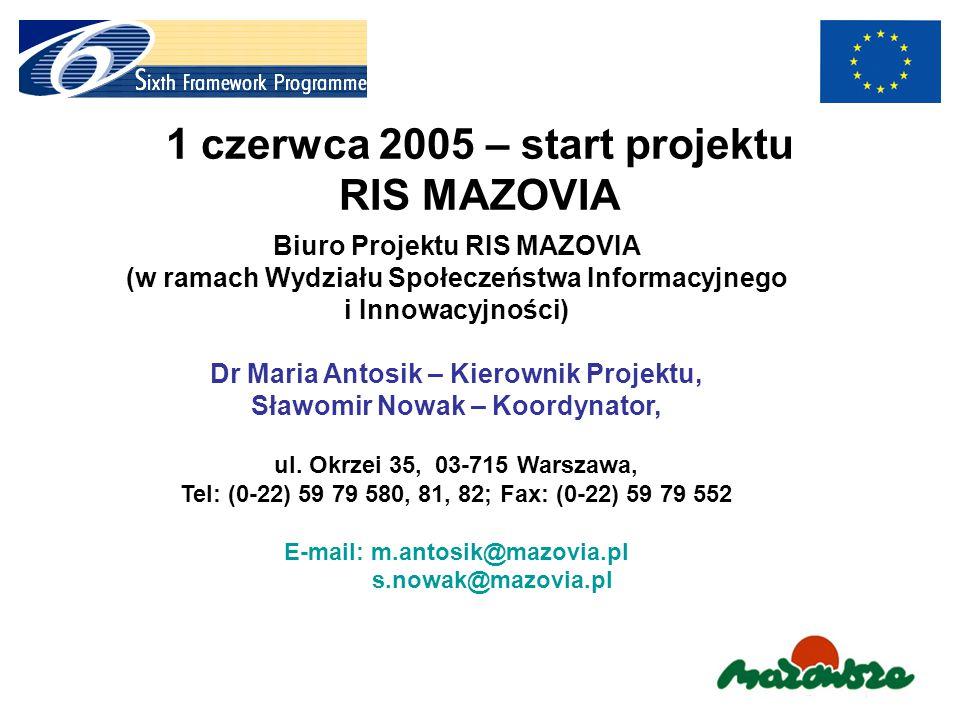 1 czerwca 2005 – start projektu RIS MAZOVIA