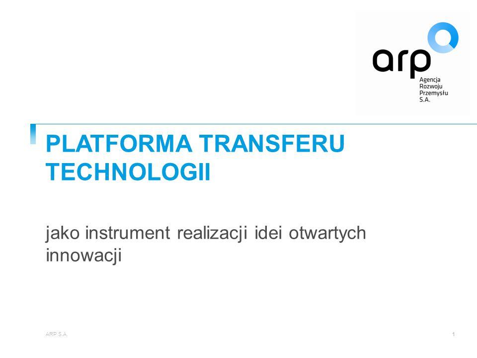PLATFORMA TRANSFERU TECHNOLOGII