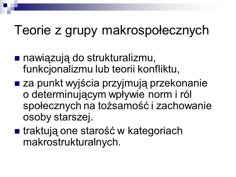 Teorie z grupy makrospołecznych