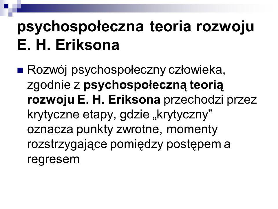 psychospołeczna teoria rozwoju E. H. Eriksona