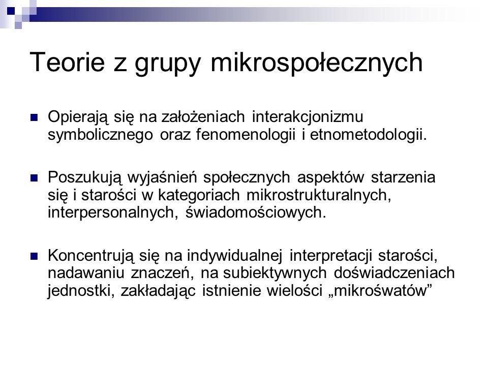 Teorie z grupy mikrospołecznych