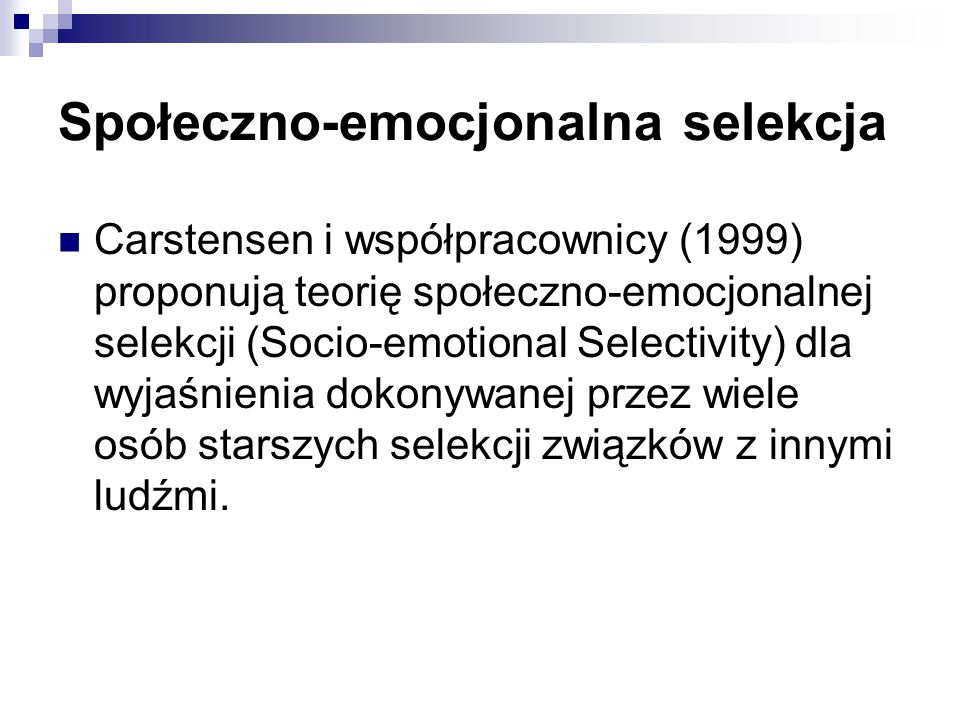 Społeczno-emocjonalna selekcja