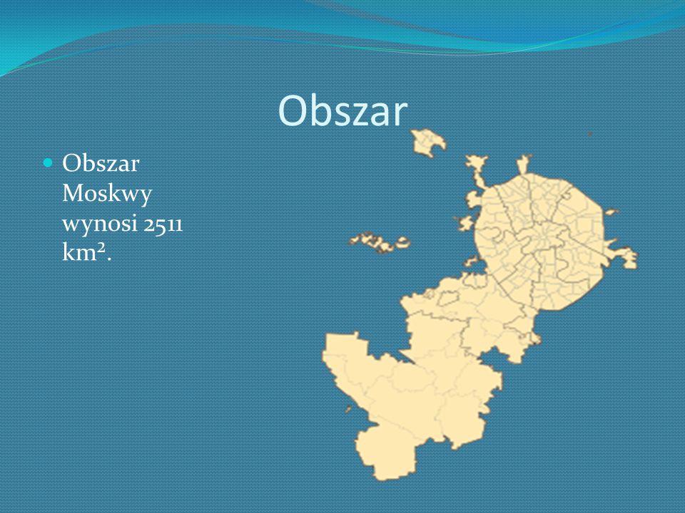 Obszar Obszar Moskwy wynosi 2511 km².