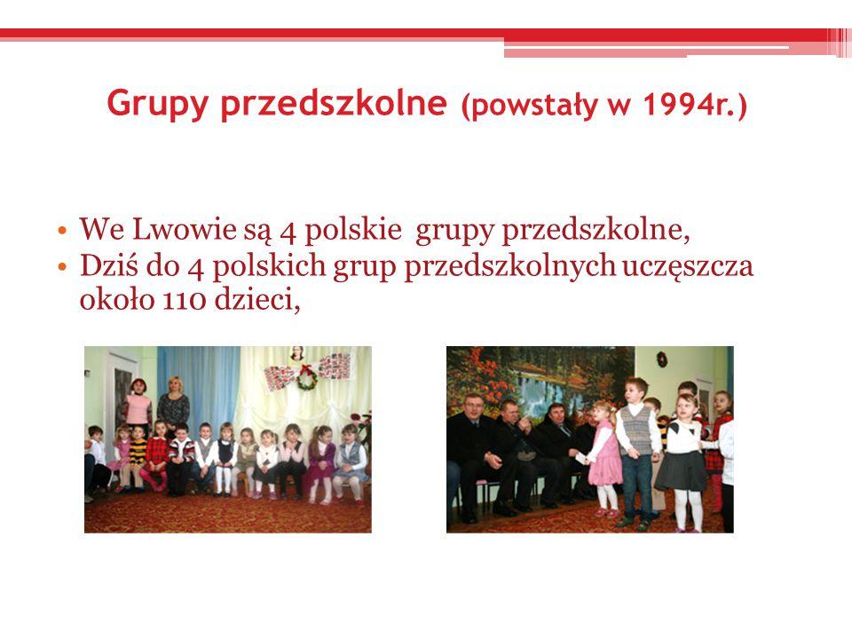 Grupy przedszkolne (powstały w 1994r.)