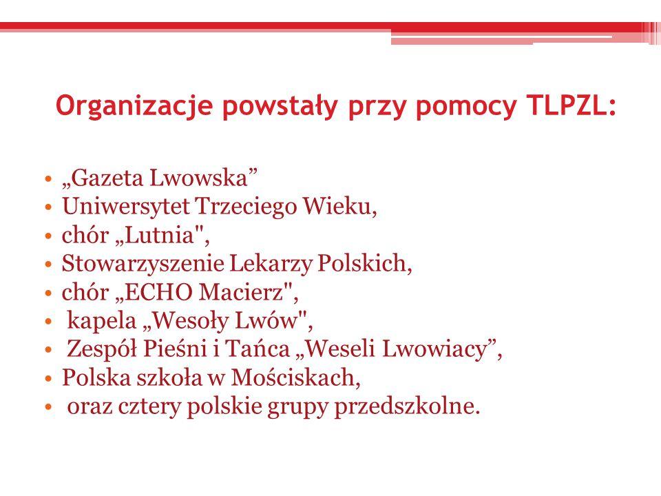 Organizacje powstały przy pomocy TLPZL: