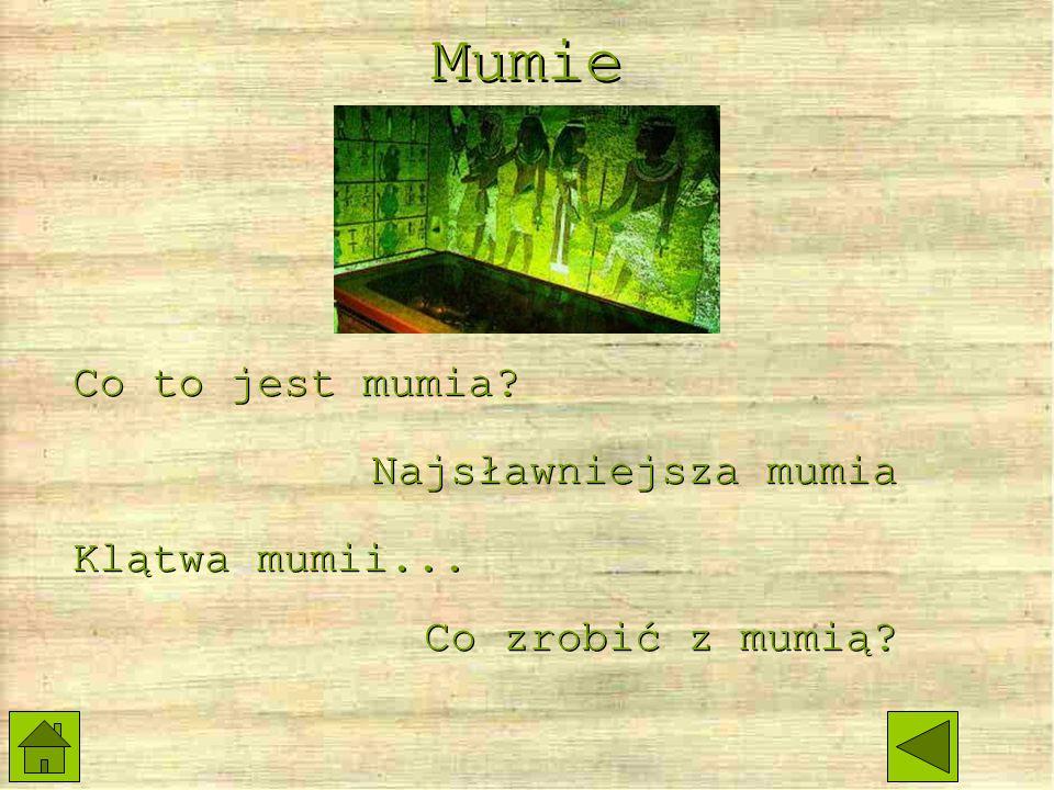 Mumie Co to jest mumia Najsławniejsza mumia Klątwa mumii...