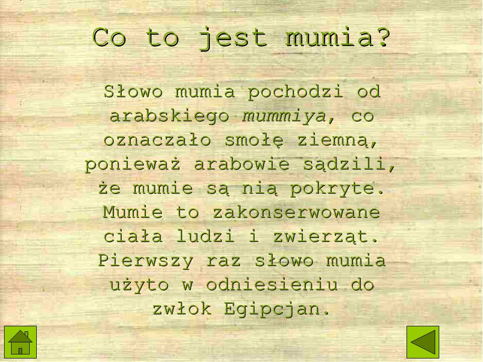 Co to jest mumia
