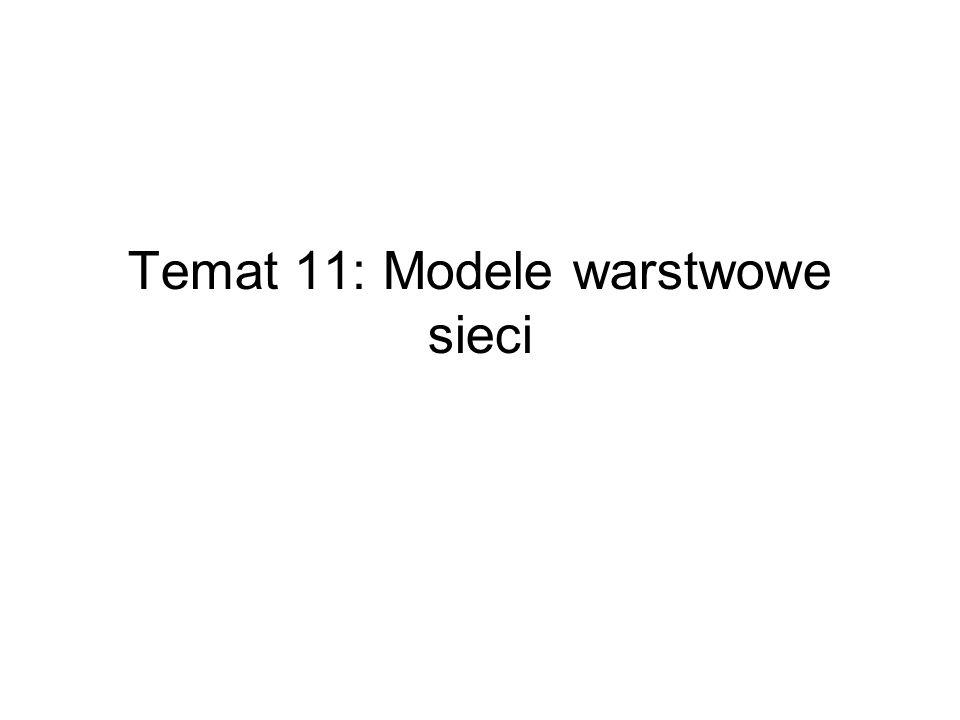 Temat 11: Modele warstwowe sieci