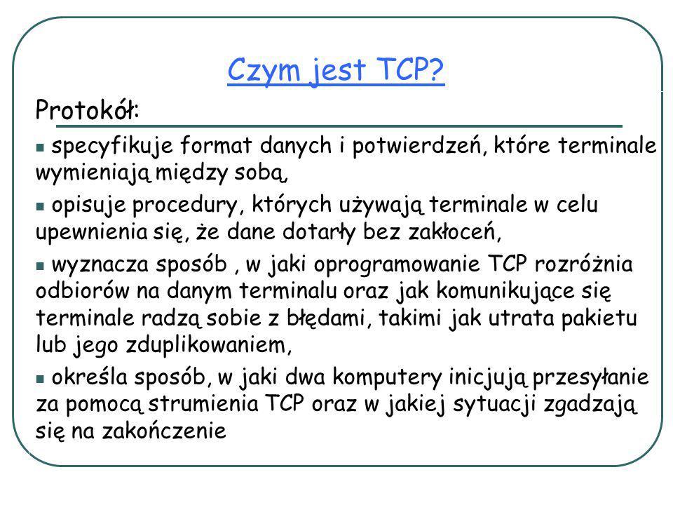 Czym jest TCP Protokół: