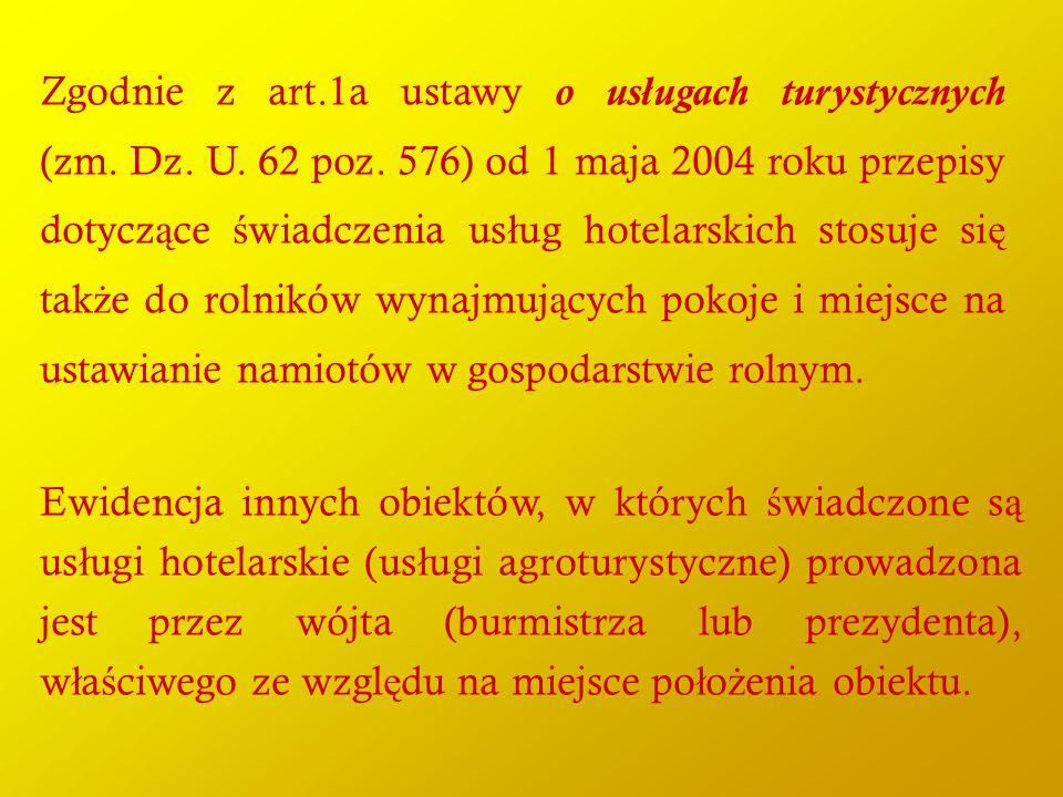 Zgodnie z art. 1a ustawy o usługach turystycznych (zm. Dz. U. 62 poz