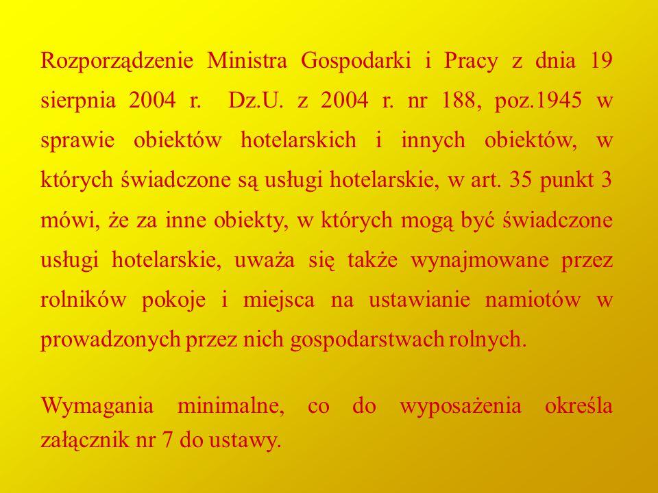 Rozporządzenie Ministra Gospodarki i Pracy z dnia 19 sierpnia 2004 r