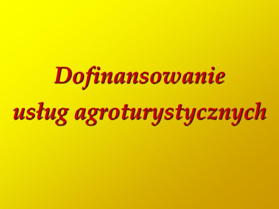 Dofinansowanie usług agroturystycznych