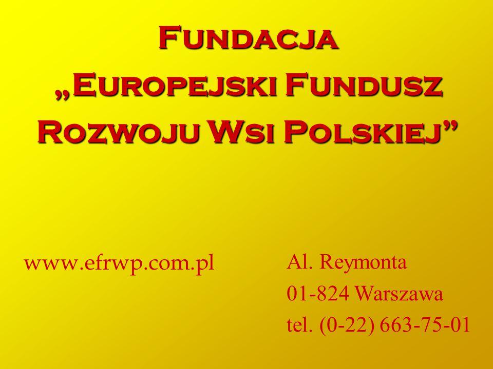"""Fundacja """"Europejski Fundusz Rozwoju Wsi Polskiej"""