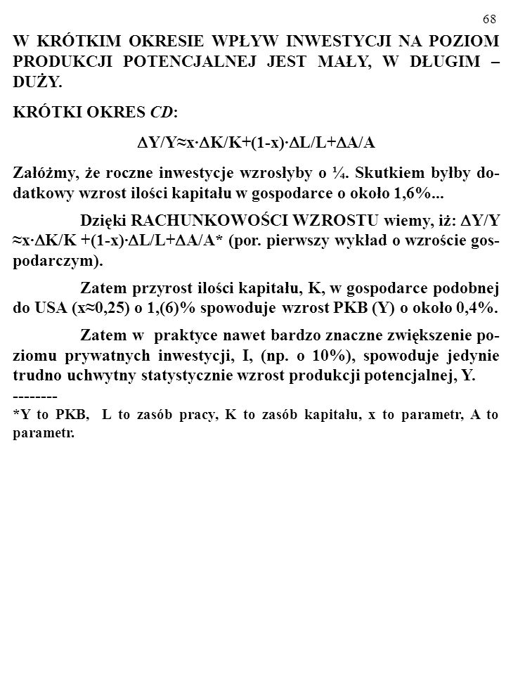 Y/Y≈x·K/K+(1-x)·L/L+A/A