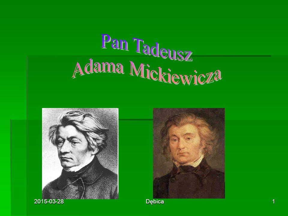 Pan Tadeusz Adama Mickiewicza 2017-04-08 Dębica