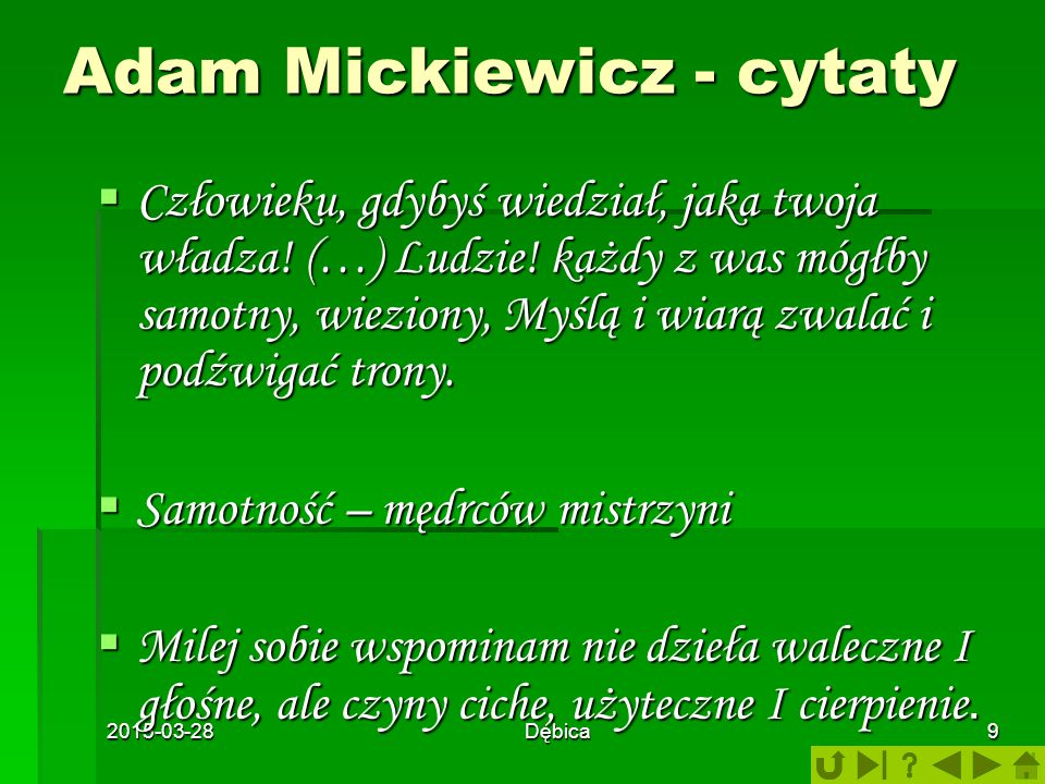Adam Mickiewicz - cytaty