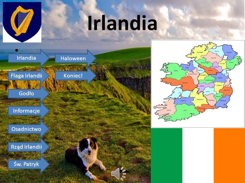 Irlandia Irlandia Haloween Flaga Irlandii Koniec! Godło Informacje