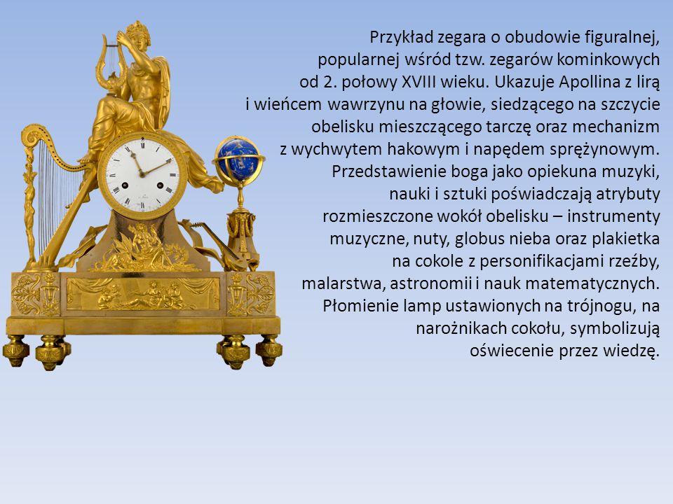 Przykład zegara o obudowie figuralnej, popularnej wśród tzw