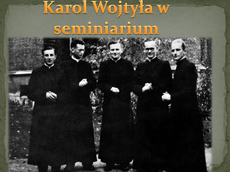 Karol Wojtyła w seminiarium