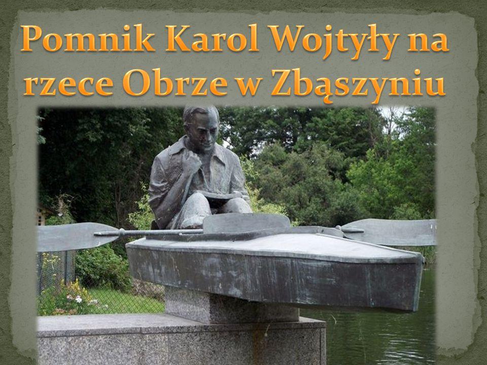 Pomnik Karol Wojtyły na rzece Obrze w Zbąszyniu