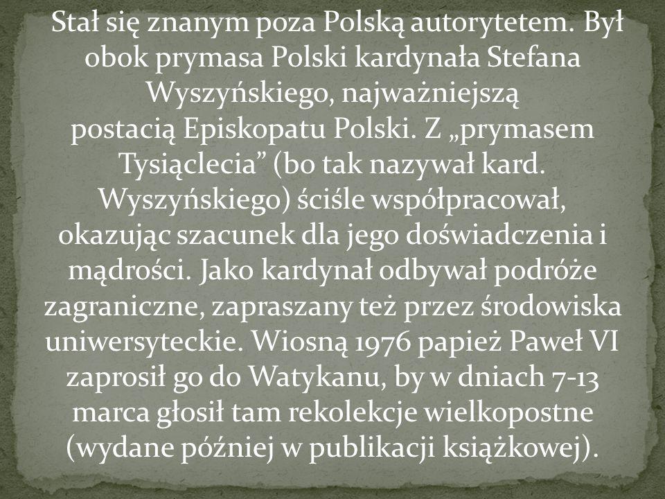 Stał się znanym poza Polską autorytetem