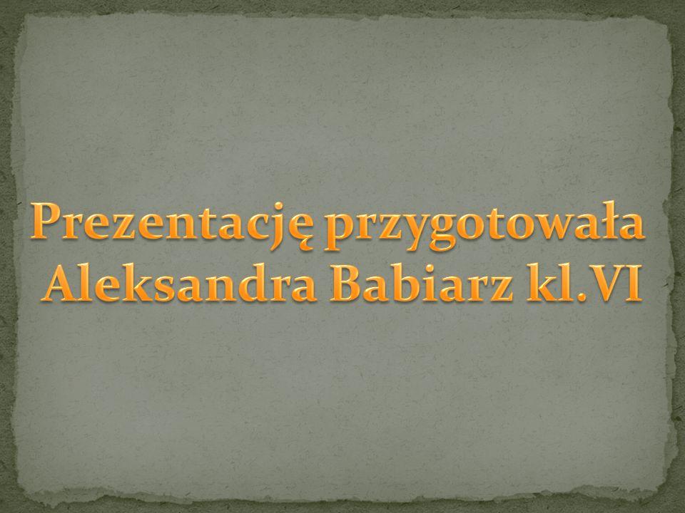 Prezentację przygotowała Aleksandra Babiarz kl.VI