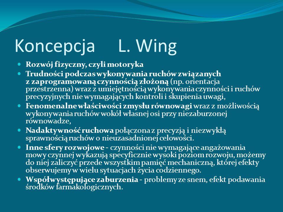 Koncepcja L. Wing Rozwój fizyczny, czyli motoryka
