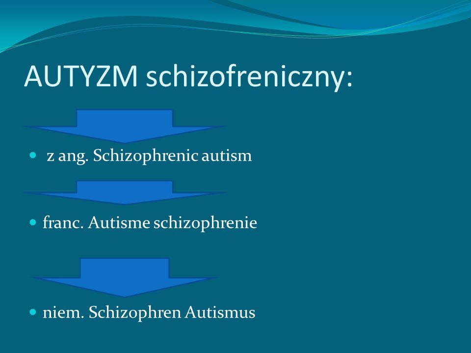 AUTYZM schizofreniczny: