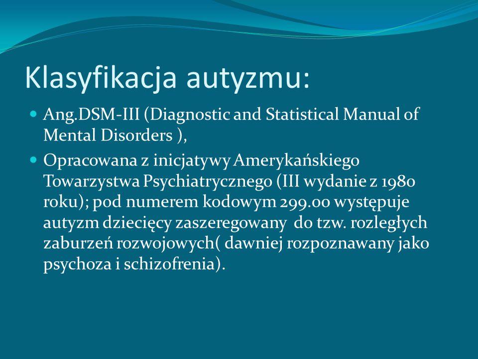 Klasyfikacja autyzmu: