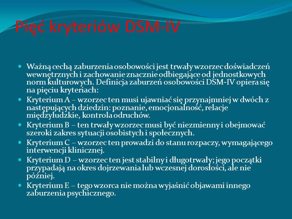 Pięć kryteriów DSM-IV