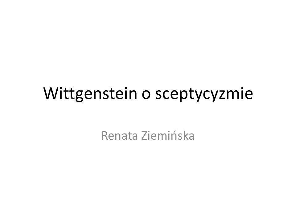 Wittgenstein o sceptycyzmie