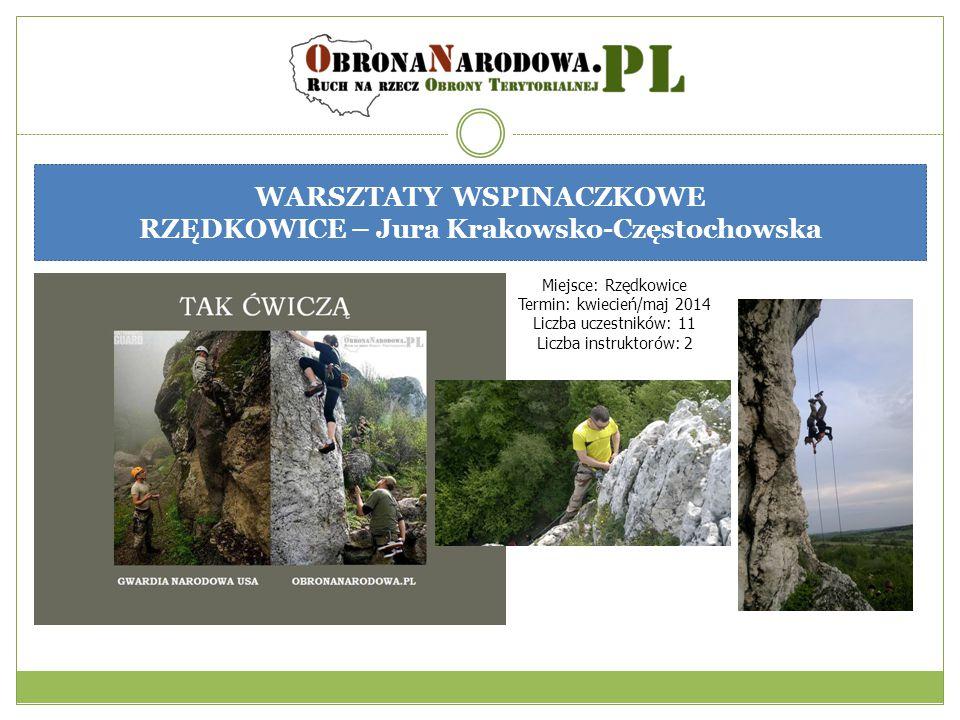WARSZTATY WSPINACZKOWE RZĘDKOWICE – Jura Krakowsko-Częstochowska