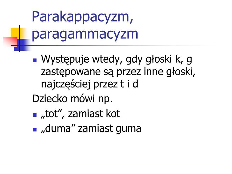 Parakappacyzm, paragammacyzm