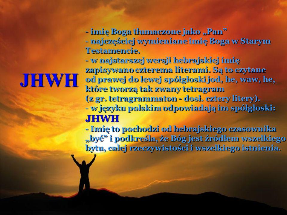 """JHWH imię Boga tłumaczone jako """"Pan"""