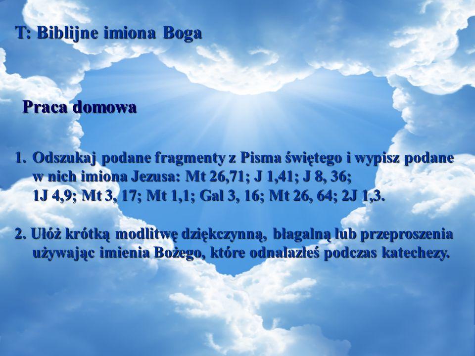 T: Biblijne imiona Boga