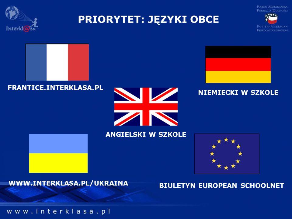 PRIORYTET: JĘZYKI OBCE BIULETYN EUROPEAN SCHOOLNET