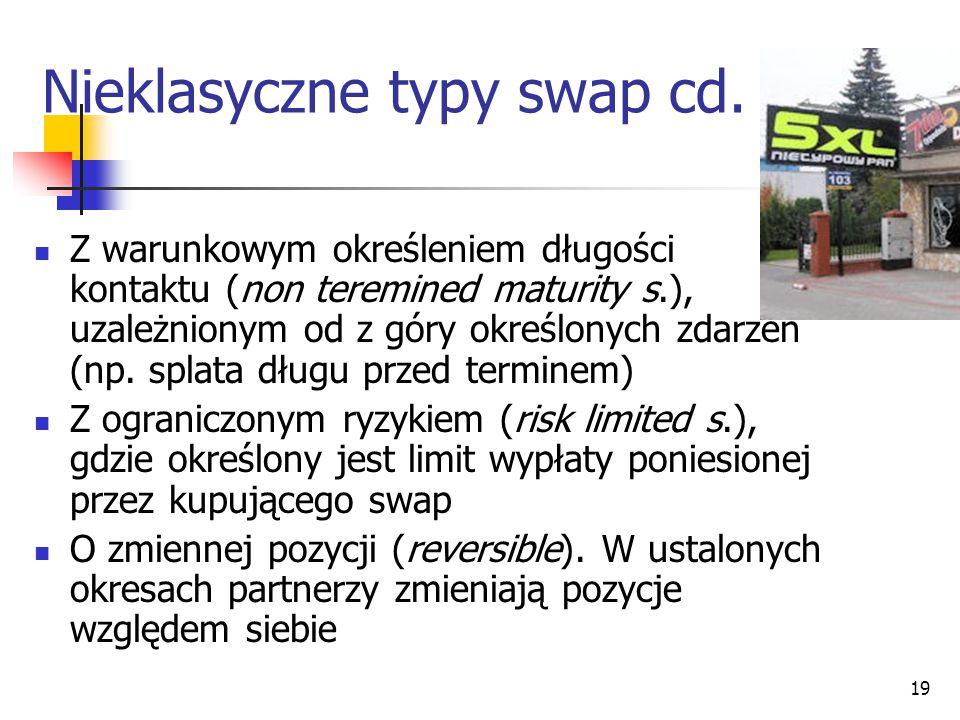 Nieklasyczne typy swap cd.
