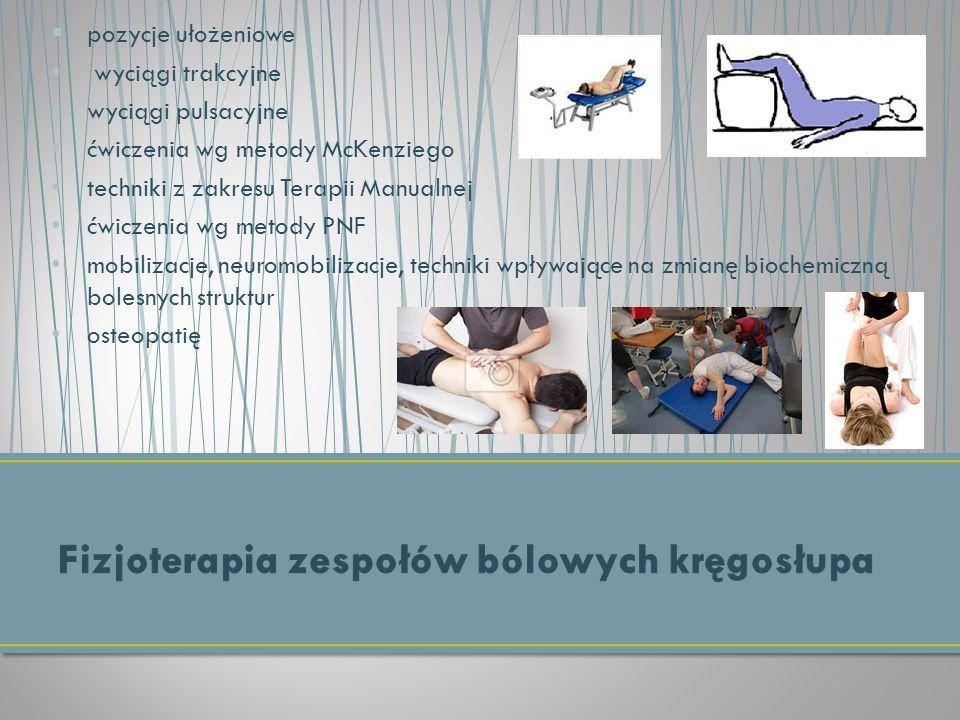Fizjoterapia zespołów bólowych kręgosłupa
