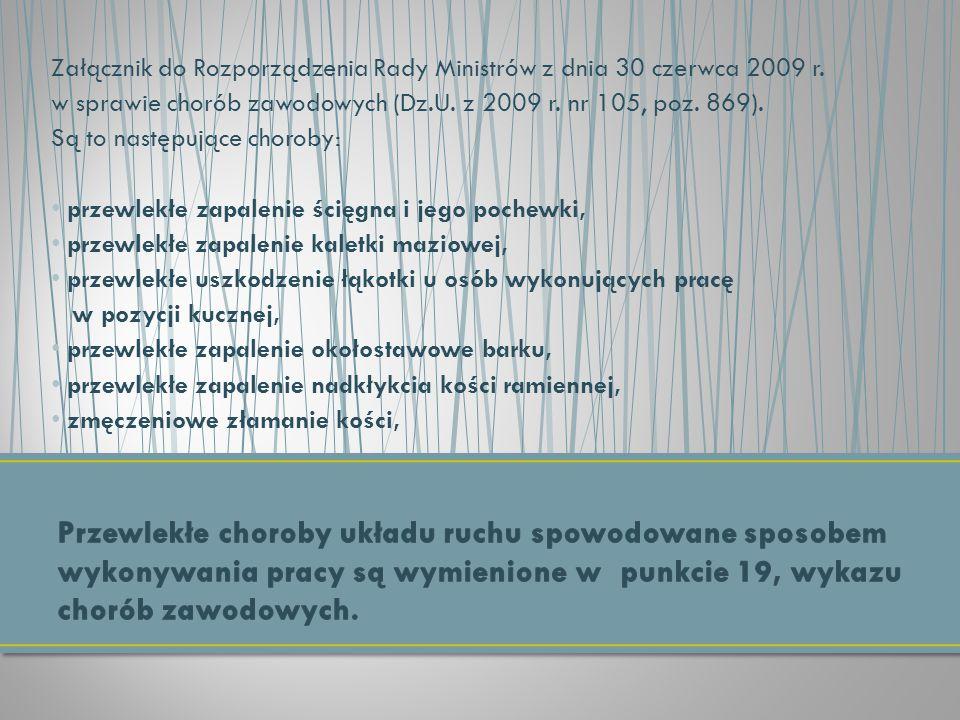 Załącznik do Rozporządzenia Rady Ministrów z dnia 30 czerwca 2009 r.