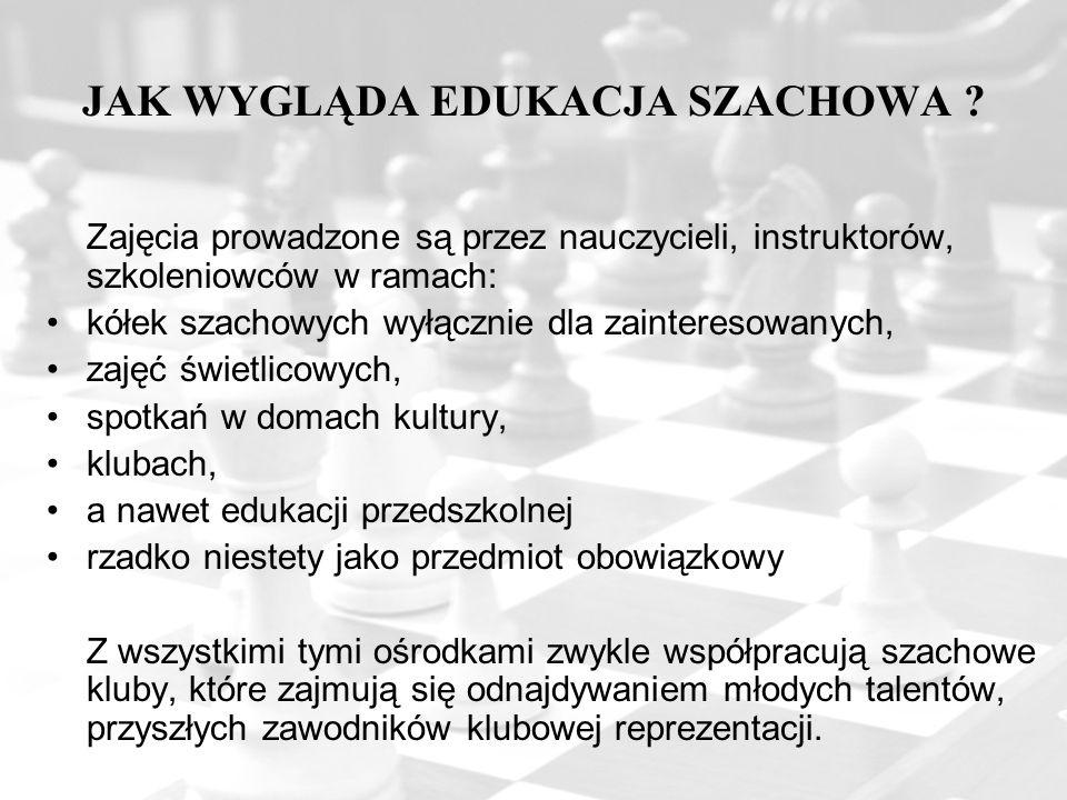 JAK WYGLĄDA EDUKACJA SZACHOWA