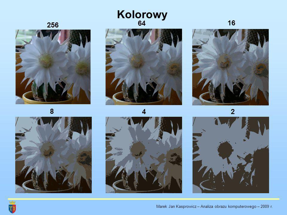 Kolorowy 64 16 256 8 4 2 Marek Jan Kasprowicz – Analiza obrazu komputerowego – 2009 r.